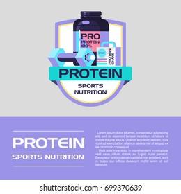 Vector logo. Protein, sports nutrition.