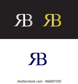 Vector logo with RB initials