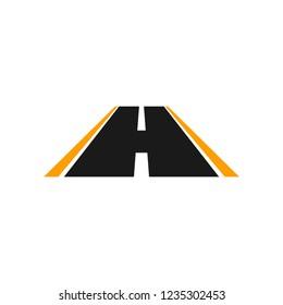 Vector Logo of road highway.