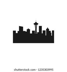 Vector Logo of seattle city skyline.
