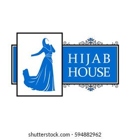 Vector logo or signboard for women's clothing store. Color.