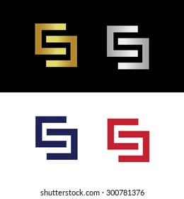 Vector logo with simple concept of letter S or two reflected letters C