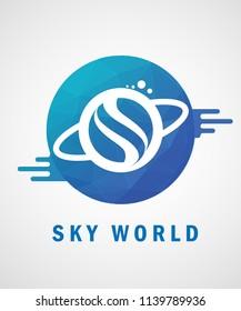 Vector Logo Sky World. EPS 10.