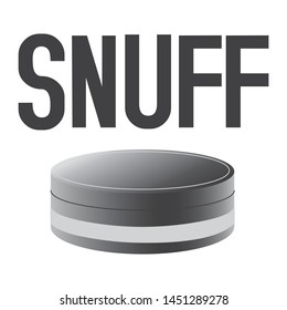 Vector logo of snuff and chewing tobacco