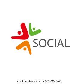 vector logo social