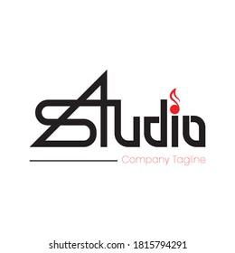 Vector Logo Studio Design. Simple Template in eps.10