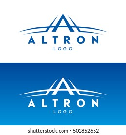 Vector logo with the stylized letter A. Letter A logo design vector template.