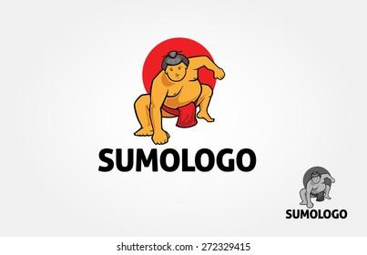 Vector logo Sumo fighter