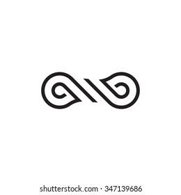Vector logo symbol loop. Knot icon.