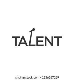 Vector Logo of Talent text. Logotype.