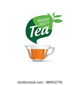 vector logo tea