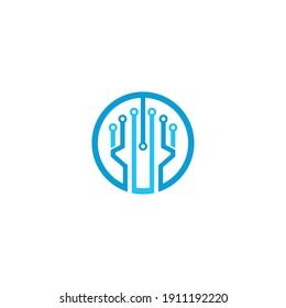 Vector Logo Technology concept illustration design
