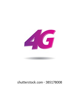 Vector logo template for 4G internet services