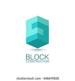 Vector logo template block construction.