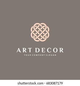 Vector logo template for boutique hotel, restaurant, jewelry. Luxury monogram.