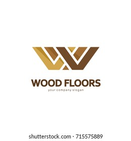 Vector logo template. Logo design for parquet, laminate, flooring, tiles. Wood floors