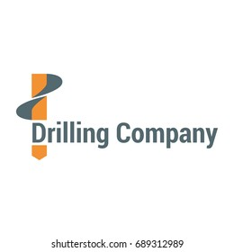 Vector logo template for drilling company. Geological prospecting icon. EPS10.