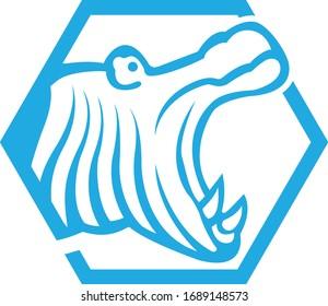 vector logo template hippo ritel