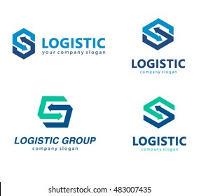 Vector logo template for logistics and delivery company.