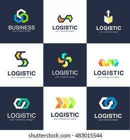 Vector logo template for logistics and delivery company. Business logo
