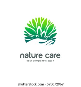 Vector logo template. Nature care