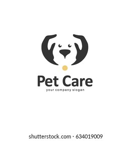Vector logo template. Pet care