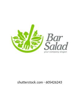 Vector logo template. Salad bar
