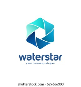 vector logo template sign for cleaning pipes and sewage systems water filters clean