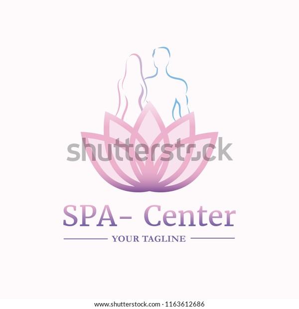 Vector Logo Template Spa Salon Cosmetology Stock Vector (Royalty