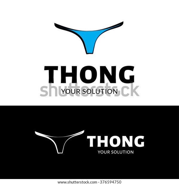 Vector logo Thong. Brand logo in the shape of panties
