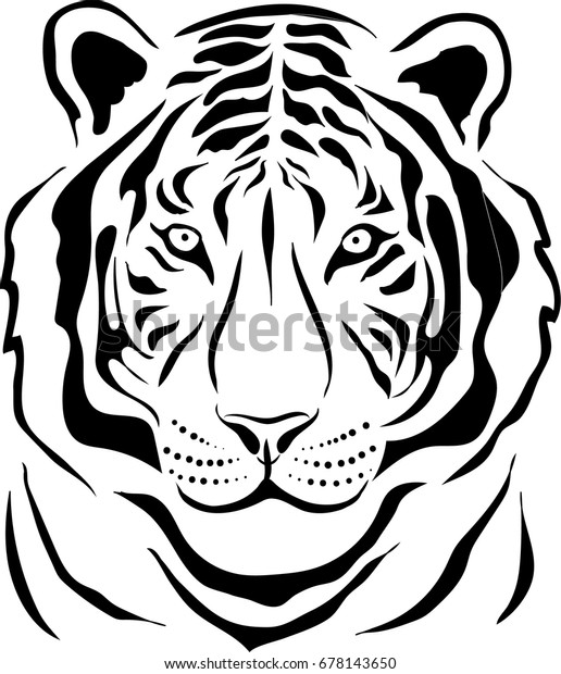 93ff153a6 The Vector logo tiger for tattoo or T-shirt design or outwear. Hunting style
