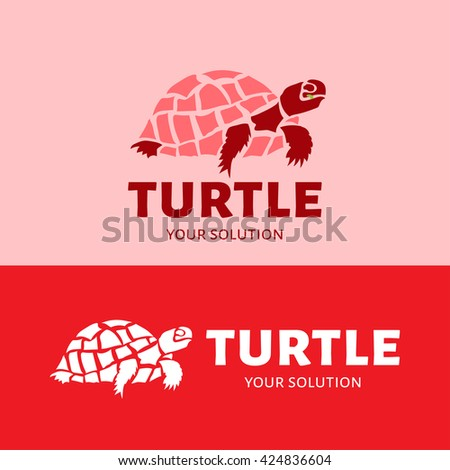 fb5f91f5c Royalty-free stock vector images ID  424836604. Vector logo turtle. Brand  logo in the form of a turtle - Vector