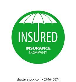 vector logo umbrella for insurance company