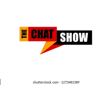 Vector logo unit for a 'CHAT SHOW' or a 'TV Channel' on a white background.