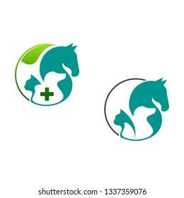 Vector logo for veterinary clinic.logo for a pet shop. logo for veterinary services