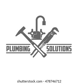 vector logo water, gas engineering, plumbing service. Web graphics, banners, advertisements, brochures, business templates. Isolated on a white background