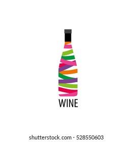 Vector logo wine