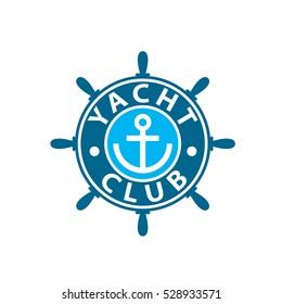vector logo yacht