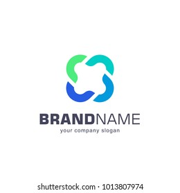 Vector logo for your business. Association, Alliance, Unity.