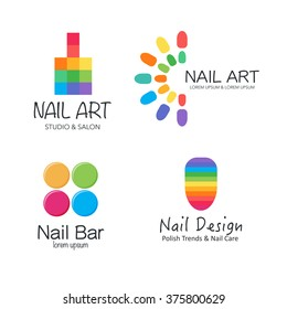 Nail logo images stock photos vectors shutterstock vector logotype design for nail salon studio bar spa boutique nail ccuart Images