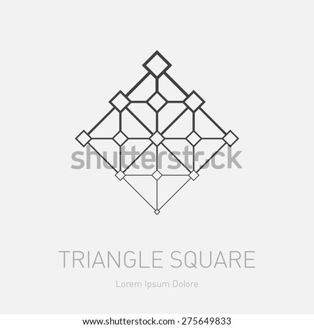 vector logotype template modern stylish logo stock vector royalty