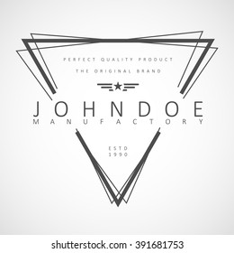 "Vector logotype.Example: ""John Doe & sons"", perfect quality, premium brand."