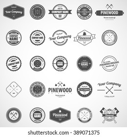 Vector logotypes set. Retro Vintage Logos set.