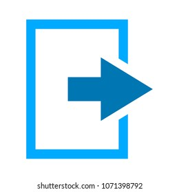 vector logout icon - exit sign or register logout button - Sign out