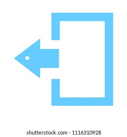 vector logout icon - exit sign or register logout button