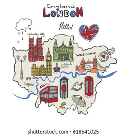 England And London Map.London Map Graphic Images Stock Photos Vectors Shutterstock
