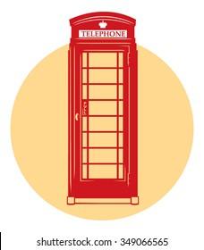 Vector London telephone booth