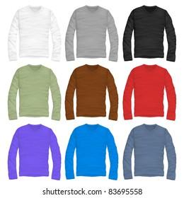 vector  long-sleeve shirt design template
