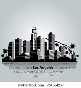 Vector. Los Angeles city silhouette.