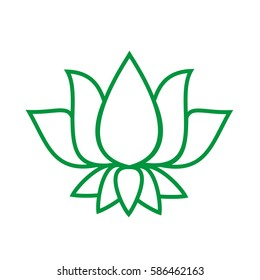 Vector lotus flower image